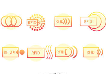 Rfid Icons Vector - vector gratuit #401265