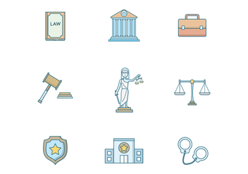 Free Law and Justice Vector - бесплатный vector #401275