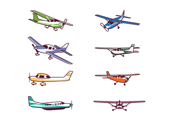 Free Cessna Airplane Vector Pack - Free vector #401325