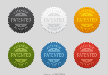 Free Patented Seals Vector Set - Free vector #401375