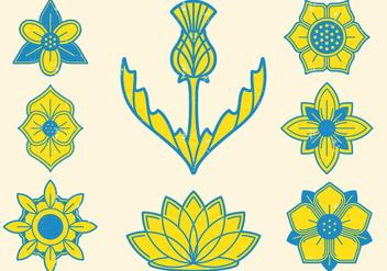 Floral Emblem - Kostenloses vector #401405