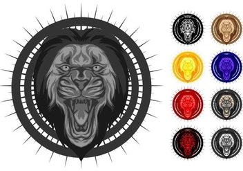 Free Hydro74 Style Lion Vector Illustration - Free vector #401465