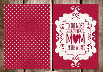 Cute Mother's Day Card - vector gratuit #401615