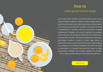 Mimosa Webpage Template - Free vector #401625