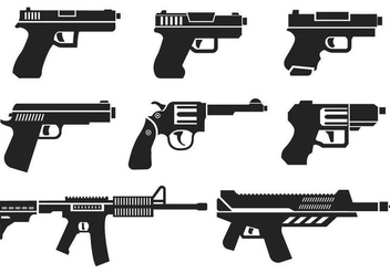 Free Guns Icons Vector - Free vector #401765