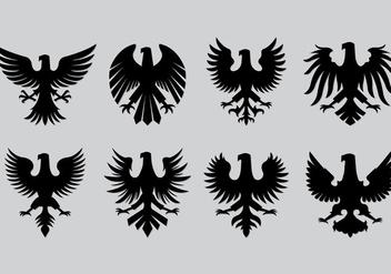 Set Of Polish Eagle Icons - Free vector #402595