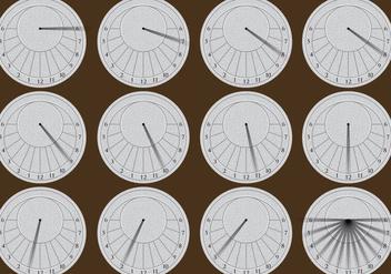 Circular Sun Dials - бесплатный vector #402615