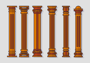 Teatro Roman Pillar - vector #402695 gratis