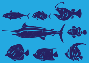 Sea Fish Icon - Free vector #402785