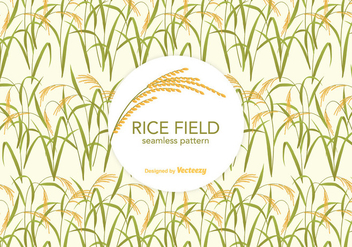 Free Rice Field Vector Pattern - vector gratuit #402875