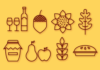 Free Thanksgiving Elements Vector - vector #402895 gratis