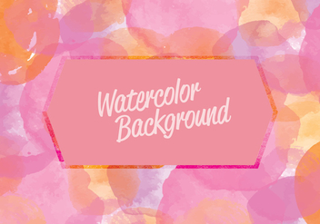 Vector Pink Watercolor Background - бесплатный vector #402915