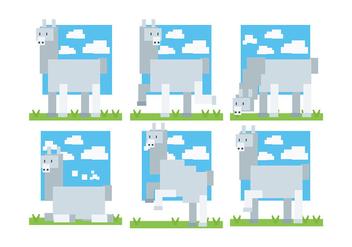 Pixel Style Alpaca Icons Vector - Kostenloses vector #403035