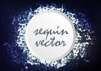 Silver Bokeh Template Background Illustration - Free vector #403045