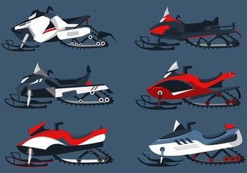 Snowmobile Free Vector - Free vector #403095