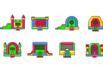 Bounce House Icon - Free vector #403165