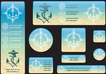 Underwater Banners - бесплатный vector #403255
