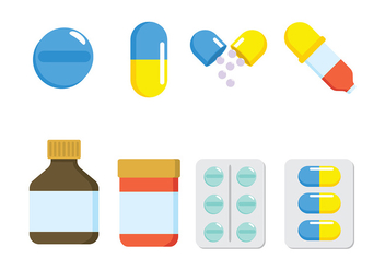 Pill Box Vector - vector #403315 gratis