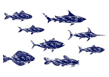 Free Vintage Fish Icon Vector - Free vector #403855