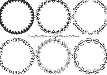 Hand Drawn Frame Collection - Kostenloses vector #404165