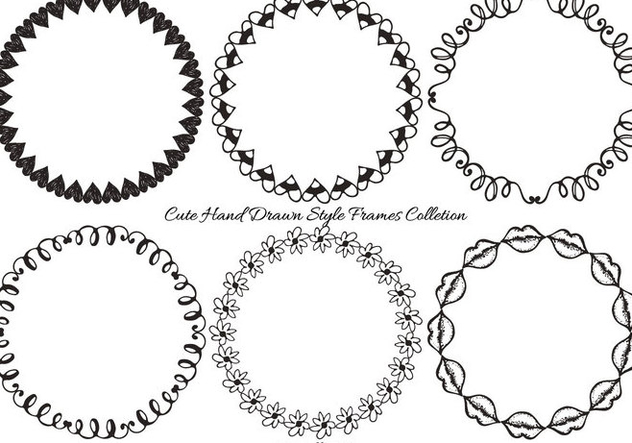 Hand Drawn Frame Collection - vector gratuit(e) #404165