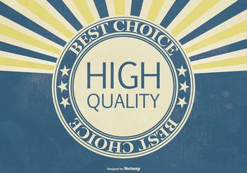 Retro Hi Quality Promotional Illustration - Free vector #404185