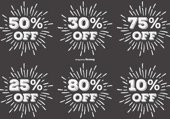 Vintage Discount Sunburst Lables - Free vector #404205