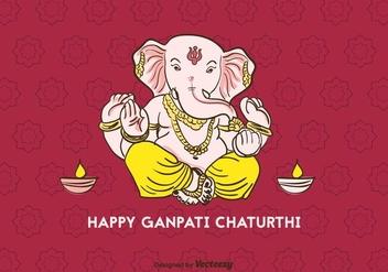 Happy Ganpati Chaturthi Vector - Kostenloses vector #404305