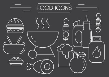 Free Barbeque Vector Icons - Free vector #404515