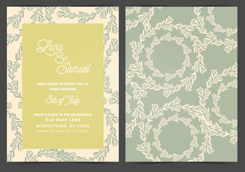 Vector Wedding Invitation - Free vector #404705