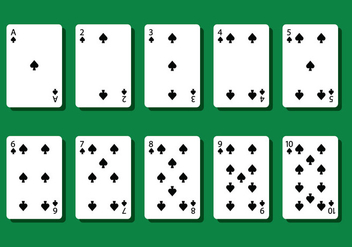 Spade Poker Card Vectors - Free vector #404805