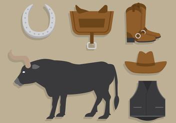 Bull rider vector - Free vector #404835