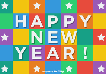 Cubic Happy New Year Vector Background - Kostenloses vector #404915