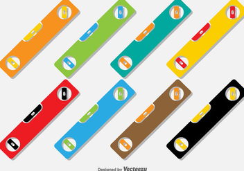 Flat Level Vector Icons - Free vector #404935