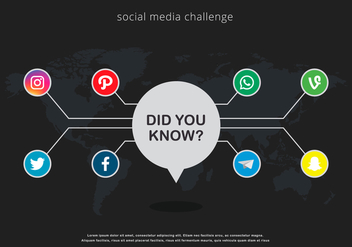 Trivia Social Media Illustration - Kostenloses vector #405035