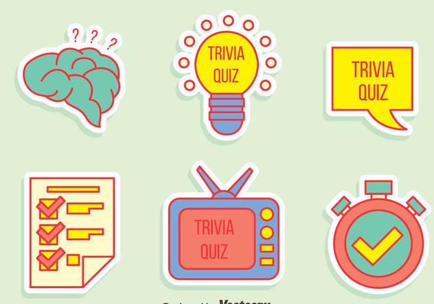 Trivia Quiz Element Vector - vector gratuit(e) #405075