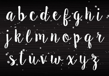 Handwriting Lowercase - Free vector #405225