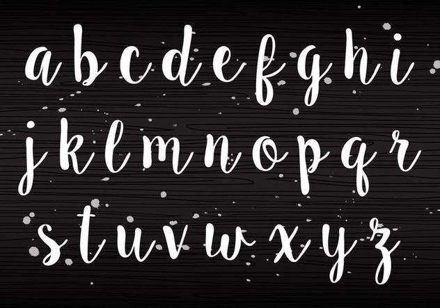 Handwriting Lowercase - бесплатный vector #405225