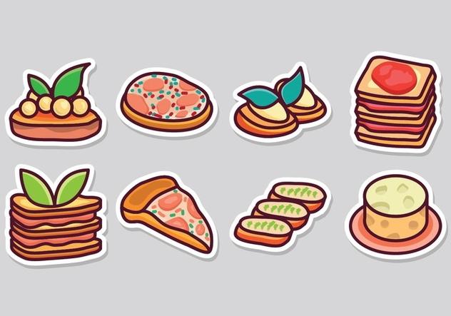 Free Italian Food Icons - бесплатный vector #405375