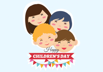 Children's Day Vector - vector gratuit #405425
