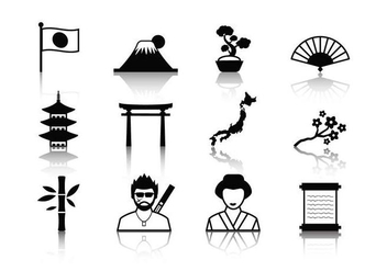 Free Japanese Icons Vector - Free vector #405585