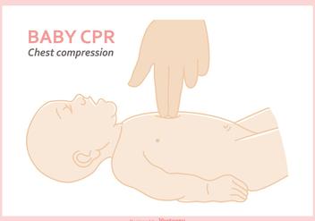 Free Baby CPR Vector Illustration - Kostenloses vector #405705
