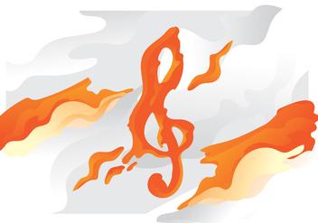 Orange Lava Violin Key - Free vector #405755