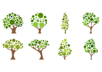 Free Cartoon Tree Icon Vector - Kostenloses vector #405785
