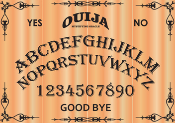 Free Ouija Board Vector Illustration - Kostenloses vector #405795