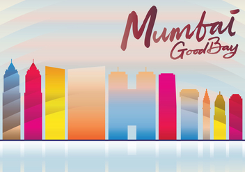 Mumbai Skyline - vector #405845 gratis