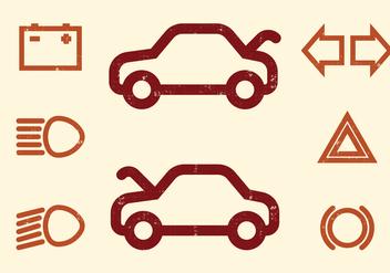 Car Dashboard vector Icons - Free vector #405855