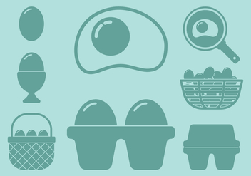 Egg Icons - vector #405875 gratis