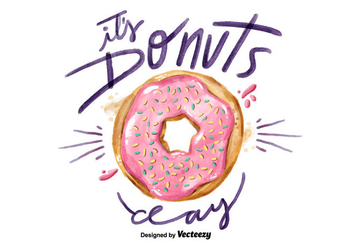 Free National Donuts Day Watercolor Vector - vector gratuit #405885