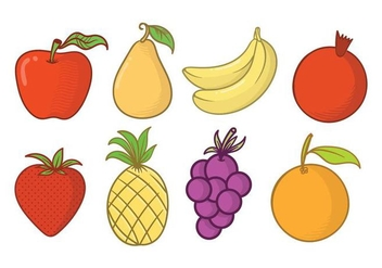 Free Fruit Fridge Magnet Vector - vector gratuit #406025
